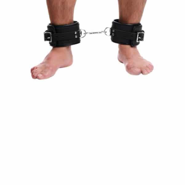 Gevoerde Lederen Enkelboeien Enkels Bondage BDSM