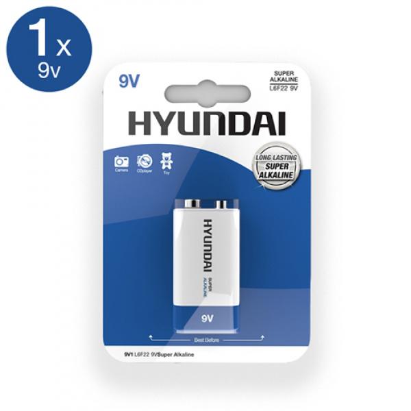 Super Alkaline 9V Batterij - Hyundai