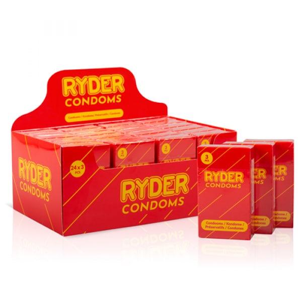 Ryder Condooms - 24 x 3 Stuks - Ryder
