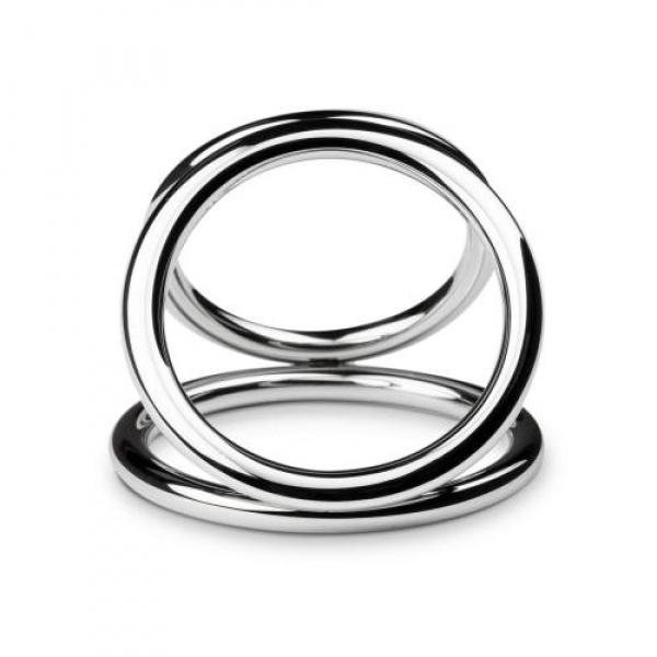 Sinner - Triad Chamber Metalen Cock- En Balring - Medium - Sinner Gear Unbendable